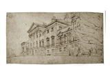 Harewood House  Yorkshire  C1798 (Graphite on Textured Wove Paper)