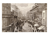 The Queen's Visit to Birmingham: the High Street  from 'The Illustrated London News' 2nd April 1887