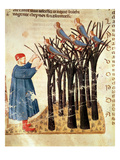 Dante and the Souls Transformed into Birds  from 'The Divine Comedy' by Dante Alighieri (1265-1321)