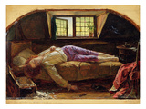The Death of Chatterton  C1856 (Oil on Panel)