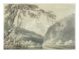 Near Grindelwald  C1796 (Blue and Grey Wash over Graphite on Paper)