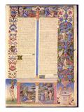 Fol6R Genesis Creation of Adam and Eve  from the Borso D'Este Bible Vol 1 (Vellum)