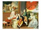George  3rd Earl Cowper  with the Family of Charles Gore  c1775