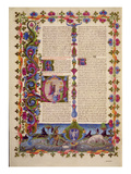 Fol233V Letter from St John to the Apostles  from the Borso D'Este Bible Vol 2 (Vellum)