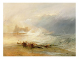Wreckers - Coast of Northumberland  with a Steam Boat Assisting a Ship Off Shore  1834
