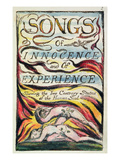 Combined Title Page from 'Songs of Innocence and of Experience'  Plate 2 of Bentley Copy L