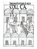 Inca Storehouses (Woodcut)