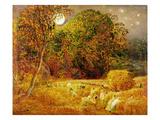 The Harvest Moon  1833 (Oil on Paper Laid on Panel)