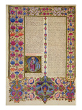 Fol232V Second Letter from St Paul to the Apostles  from the Borso D'Este Bible Vol 2 (Vellum)
