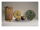 A Collection of American Indian Drums (Mixed Media)