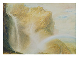 Upper Falls of the Reichenbach (W/C on Paper)