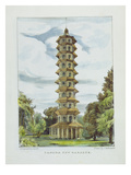 Pagoda  Kew Gardens  Plate 9 from 'Kew Gardens: a Series of Twenty-Four Drawings on Stone'