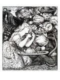 Frontispece to 'Goblin Market and Other Poems' by Christina Rossetti  Engraved by William Morris