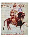 Ms 4 Equestrian Portrait of Pepin (C773-810) King of Italy  1023 (Vellum)