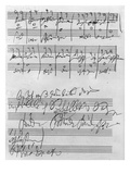 Handwritten Musical Score (Ink on Paper)