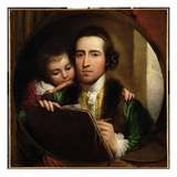 The Artist and His Son Raphael  c1773