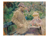 Eugene Manet (1833-92) with His Daughter at Bougival  c1881