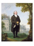 Gentleman in the Grounds of His House  c1800-10