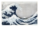 The Great Wave Off Kanagawa  from the Series '36 Views of Mt Fuji' ('Fugaku Sanjuokkei')