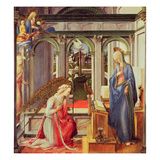 The Annunciation (Oil on Panel)