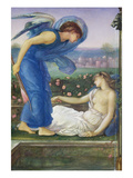 Cupid and Psyche  C1865 (W/C  Bodycolour and Pastel on Paper Mounted on Linen)