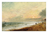 Hove Beach  C1824 (Oil on Paper on Panel)
