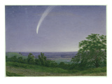 Donati's Comet  Oxford  730Pm  5th October 1858 (W/C and Bodycolour over Graphite on Paper)