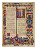 Fol231R First Letter from St Peter to the Apostles  from the Borso D'Este Bible Vol 2 (Vellum)