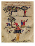 Ms Grec 479 Hunting for Birds  Illustration Probably from the Ixeutika by Oppian