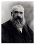 Portrait of Claude Monet (1841-1926) 1901 (B/W Photo)
