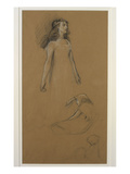 Study for Yseult for 'Tristram and Yseult' (Pencil on Paper)