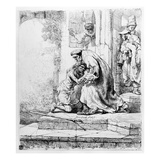 Return of the Prodigal Son  1636 (Etching)