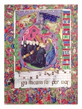 Historiated Initial 'Q'  Depicting Christ Holding the Cross of St Benedict and Benedictine Monks