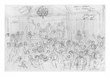 Album of the Siege of Paris  Election Meeting Rue Maison Dieu  Plaisance