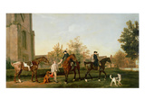 Lord Torrington's Hunt Servants Setting Out from Southill  Bedfordshire  c1765-8