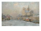 Quai De La Tournelle and Notre-Dame De Paris  1909