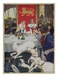 King Arthur's Wedding Feast  1905 (W/C)