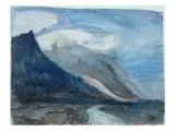 Moonlight  Chamonix  1866 (W/C and Pencil on Paper)
