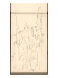 Rouen Cathedral Facade  C1892 (Pencil on Paper)