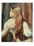 Blonde Girl Combing Her Hair  1894