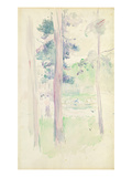 Pines by the Lake  1893 (W/C on Paper)
