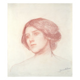 Head of a Girl (Red Chalk on Paper)