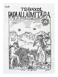 The Month of June  Harvesting the Potatoes (Woodcut)