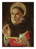 StThomas Aquinas (Oil on Panel)