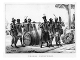 Negres Cangueiros' - Black Porters Carry a Cask  Engraved by Thierry Freres (Fl1827-45)  1835