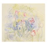 Tulips  1890 (W/C on Paper)