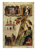 Heavenly Ladder of St John Climacus (Tempera on Panel)