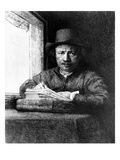 Self Portrait While Drawing  1648 (Etching)