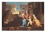 Holy Family on the Steps  C1648