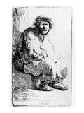 Beggar Seated on a Bank  1630 (Etching)